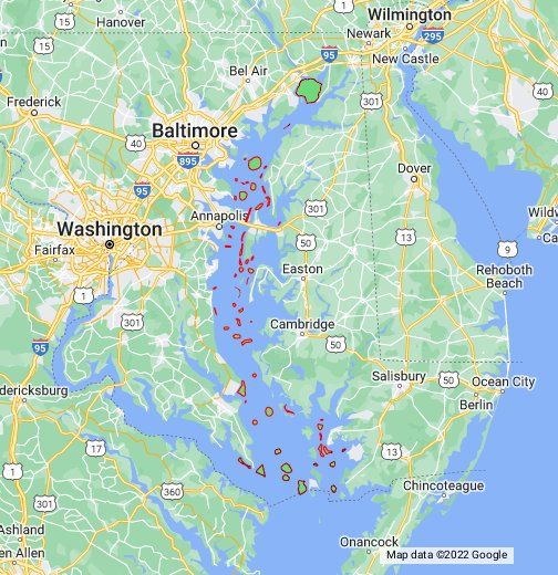 Traditional chesapeake bay fishing grounds for Chesapeake bay fishing map
