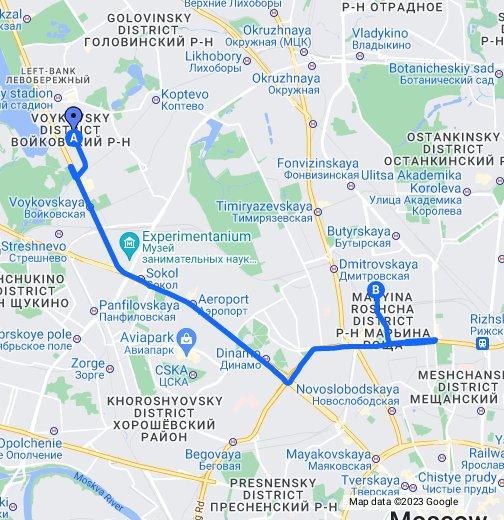 Складочная улица в Москве с номерами домов на карте