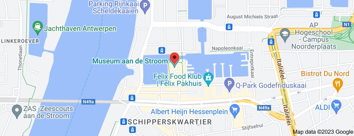 Location of Museum aan de Stroom