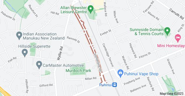 Location of Kenderdine Road