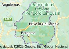 Dordoina inguruko mapa