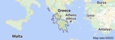 Location of Decentralized Administration of Peloponnese, Western Greece and the Ionian