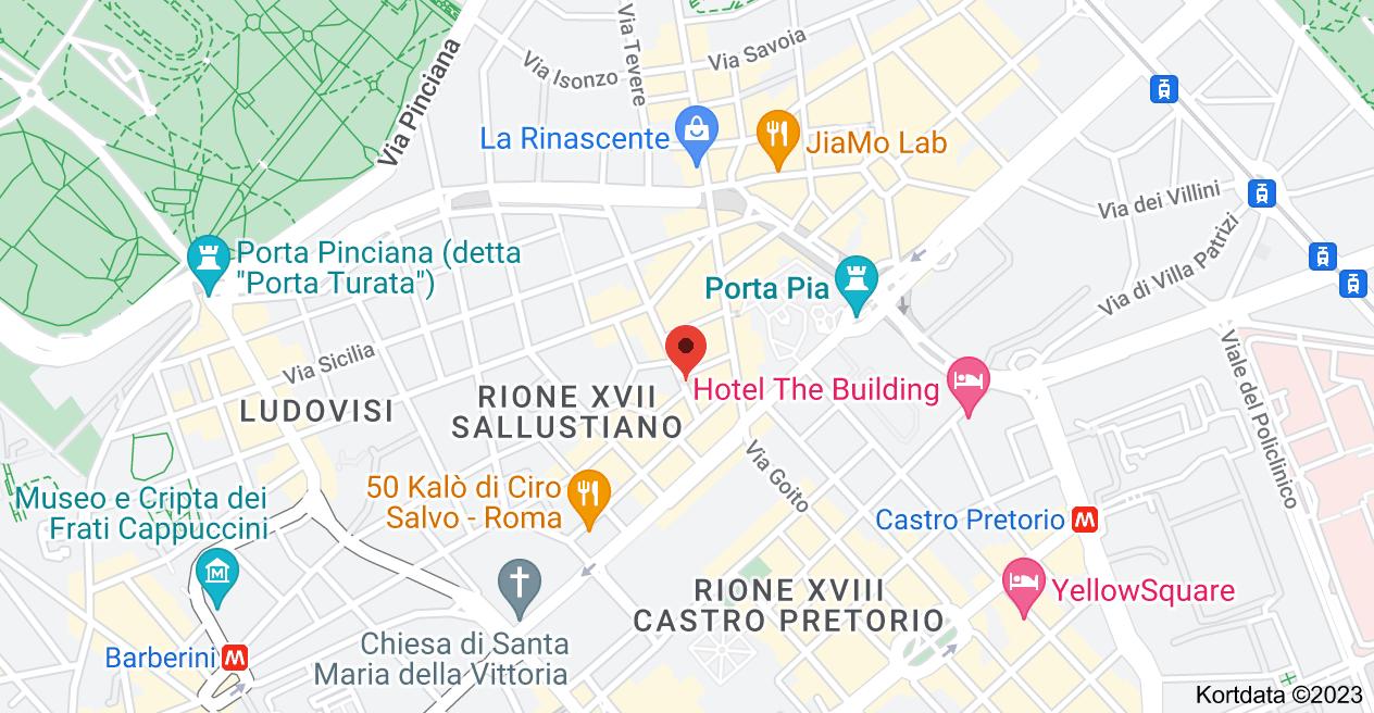 Kort over Piazza Sallustio,  2,  00187 Roma RM,  Italien