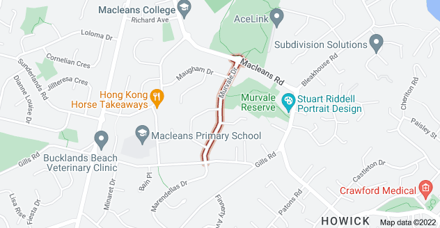 Location of Murvale Drive
