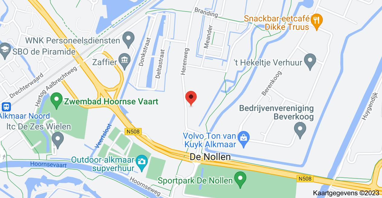 Kaart van Herenweg 170, 1822 AK Alkmaar