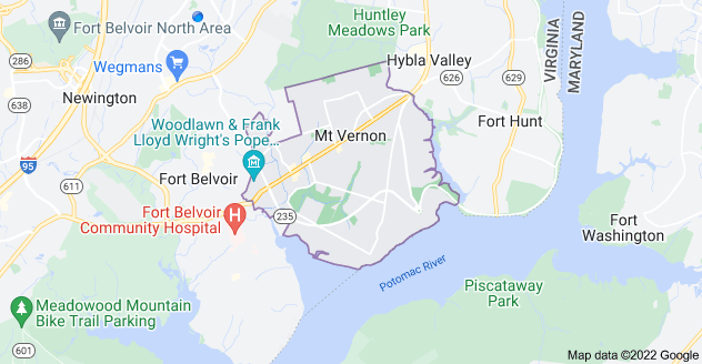Map of Alexandria, VA 22309