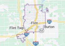 Map of Flint, Michigan