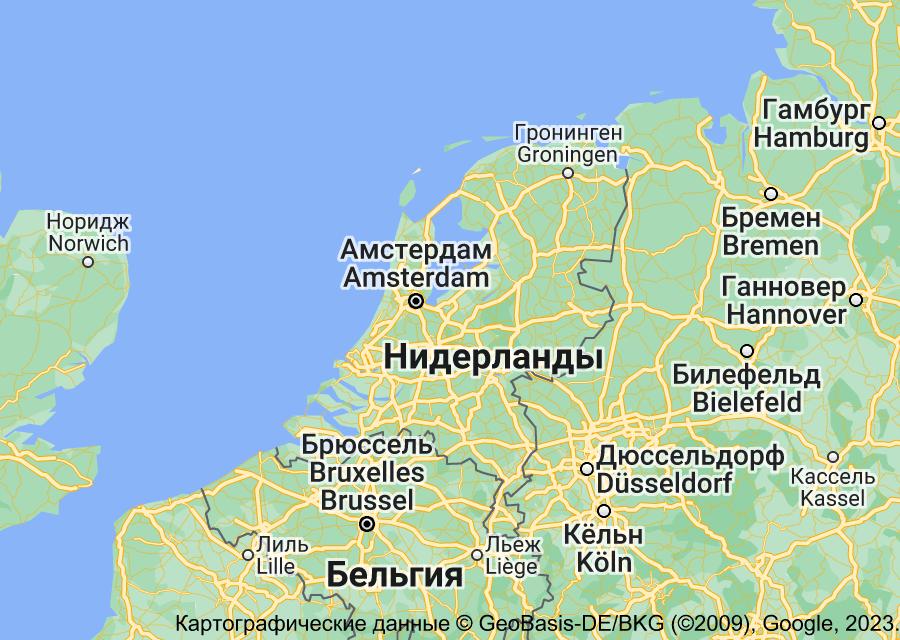 Location of Нидерланды