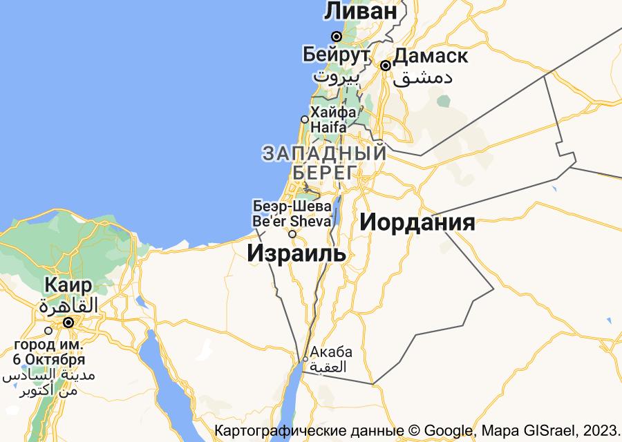 Location of Израиль