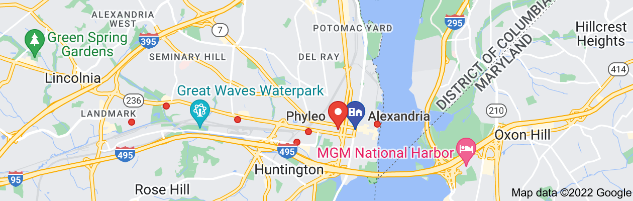 Map of private investigator alexandria virginia