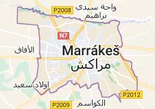 Mapa oblasti Marakéš