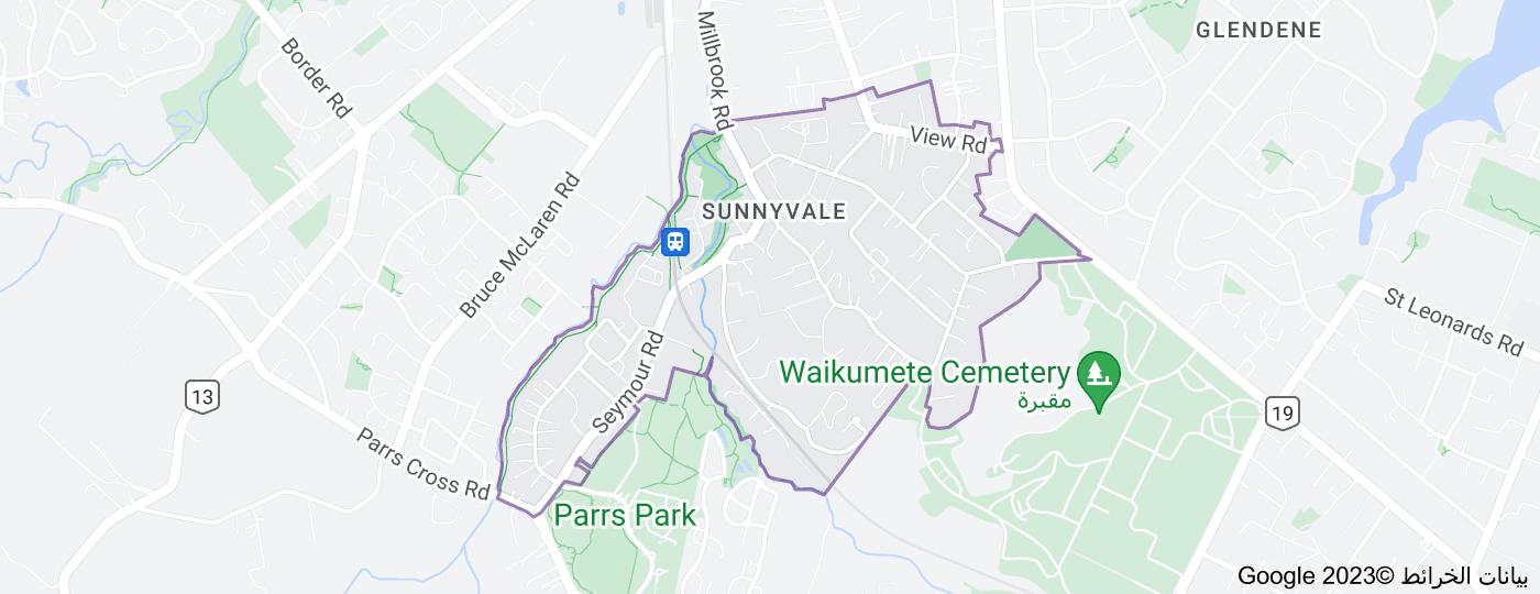 Location of Sunnyvale