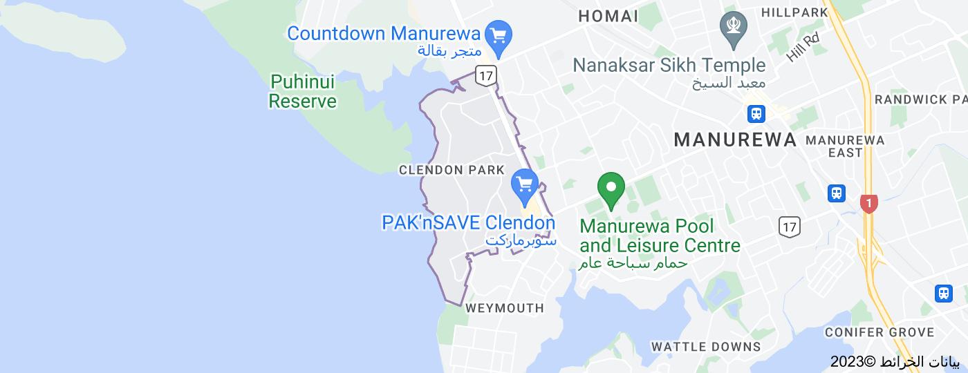 Location of Clendon Park