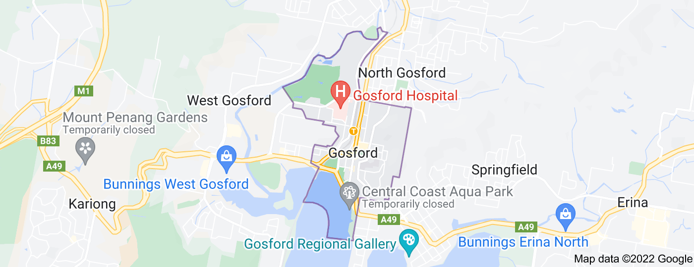 Location of Gosford