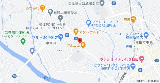〒974-8261 福島県いわき市植田町根小屋24−4の地図