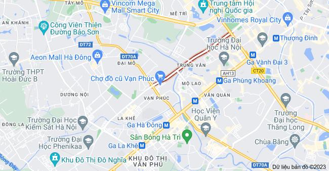 Bản đồ của Tố Hữu, Hà Đông, Hà Nội