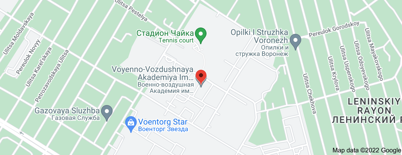 Location of Air Force Academy named after professor N. E. Zhukovsky and Y. A. Gagarin