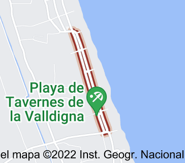 Mapa de avenida de la marina