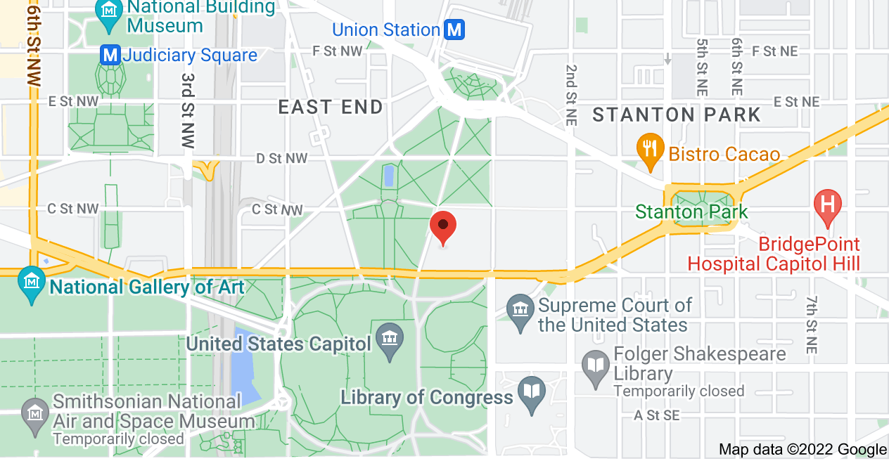 Map of Russell Senate Office Building, Washington, DC 20002