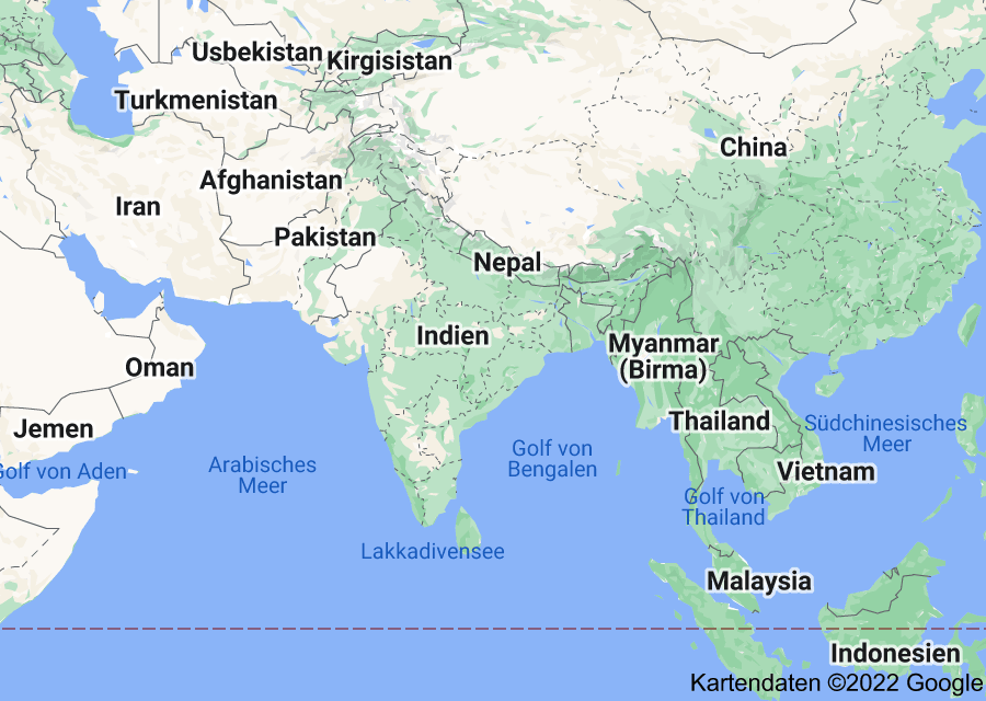 Location of Indien
