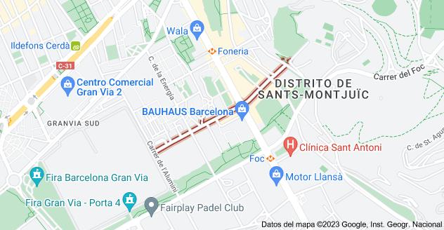 Mapa de Carrer dels Alts Forns, 08038 Barcelona, España