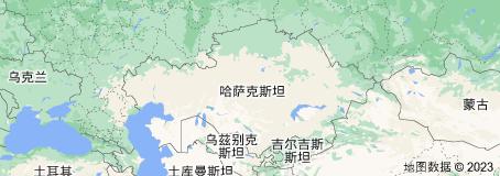 Location of 哈萨克斯坦