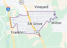 Map of Elk Grove, California