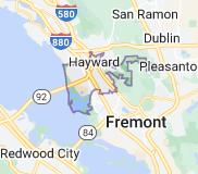 Map of Hayward, California