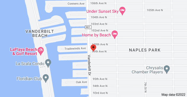 Map of 512 99th Ave N, Naples, FL 34108