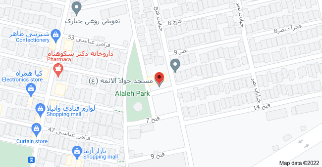 Map of مسجد جواد الائمه (ع)، Mashhad, Razavi Khorasan Province