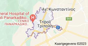 Kaart van Tripolis (Griekenland)