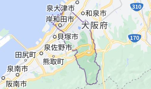 岸和田市の地図