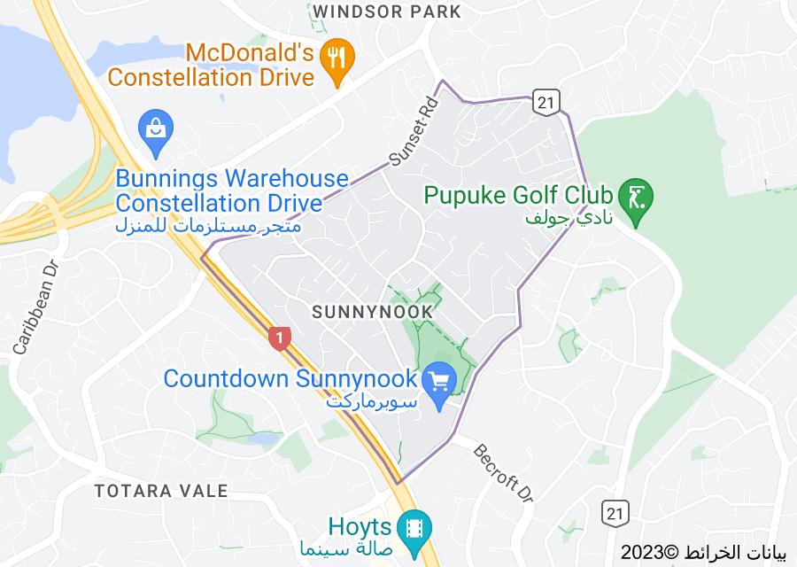 Location of Sunnynook, New Zealand
