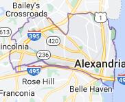 Map of Alexandria, Virginia