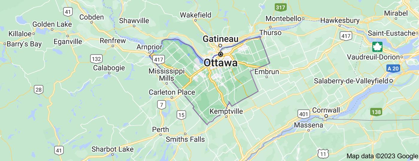 Location of Ottawa