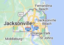 Map of Jacksonville, Florida