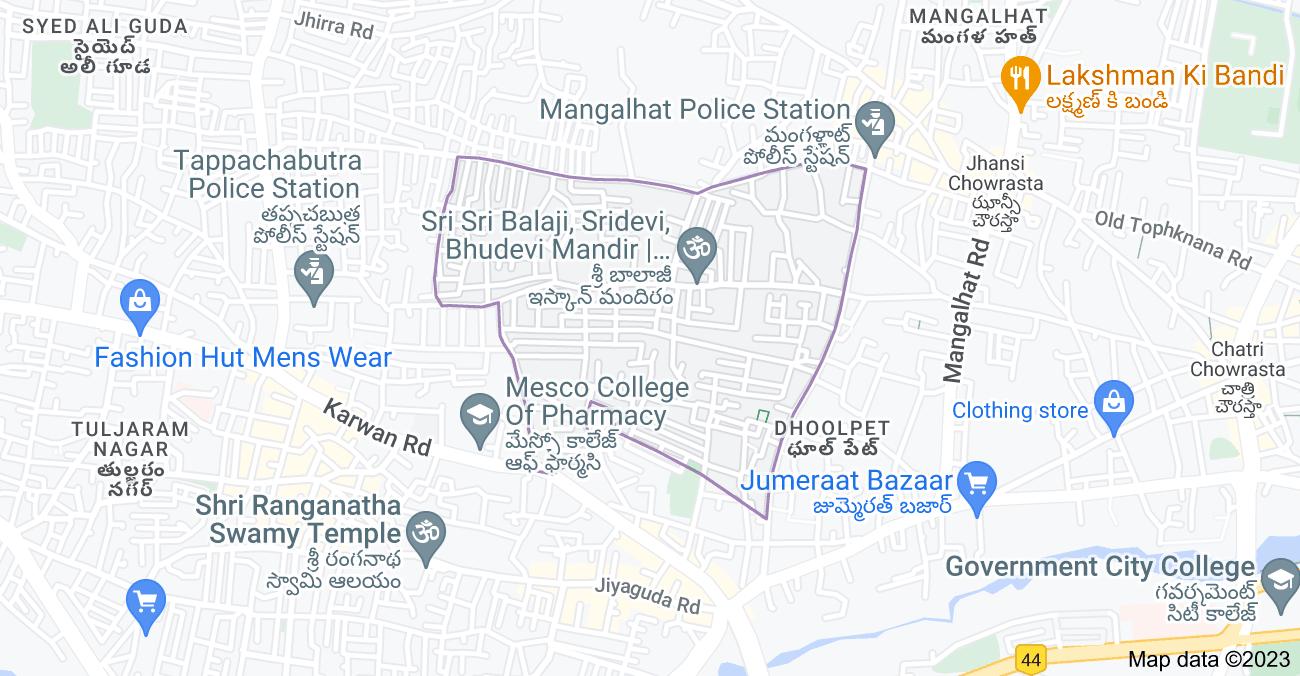 Map of Dattatreya Nagar, Hyderabad, Telangana 500006, India