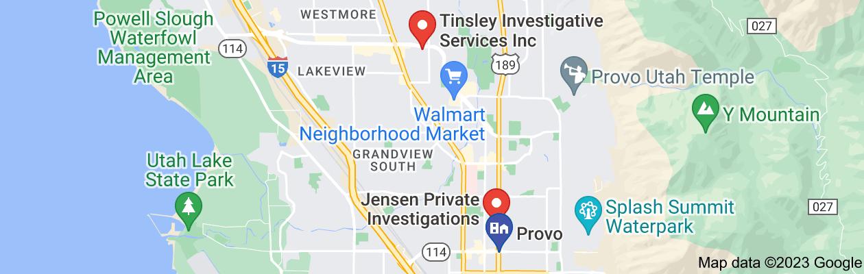 Map of private investigator provo utah