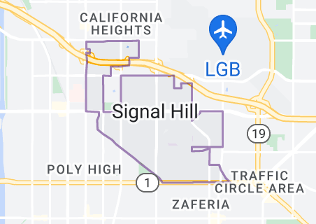 Map of Signal Hill, California
