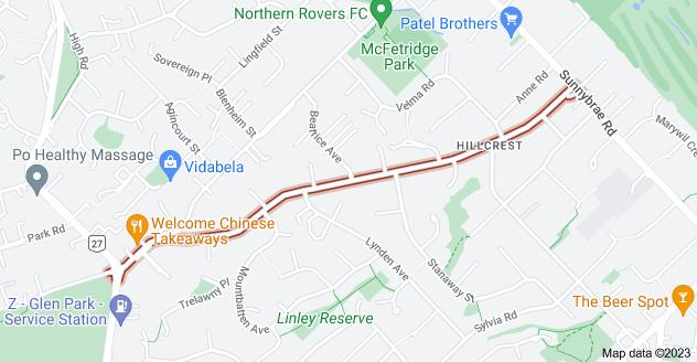 Location of Coronation Road