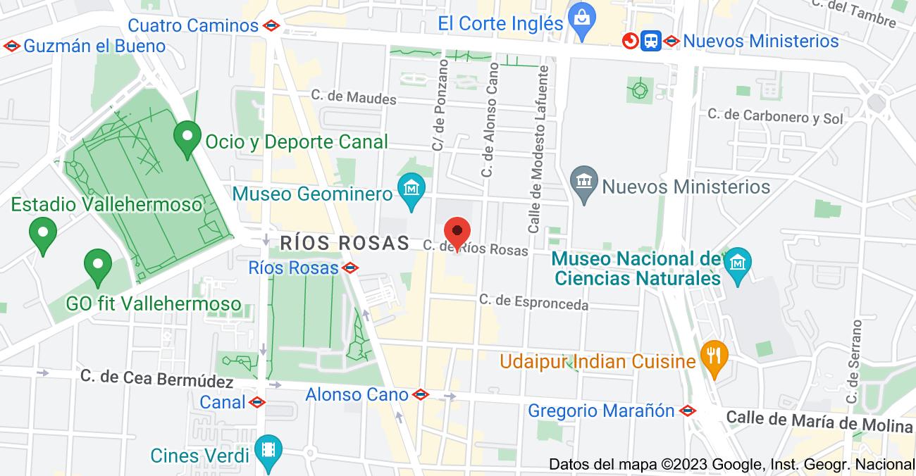 Mapa de Calle de Ríos Rosas, 36, C, 28003 Madrid