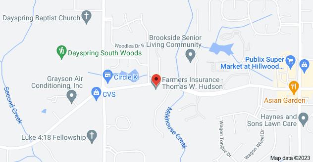 Map of 6925 Cottage Hill Rd Suite D, Mobile, AL 36695