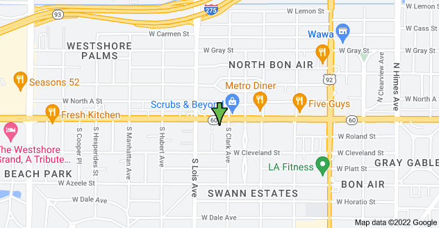 Map of 4100 W Kennedy Blvd, Tampa, FL 33609