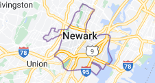 Map of Newark, New Jersey