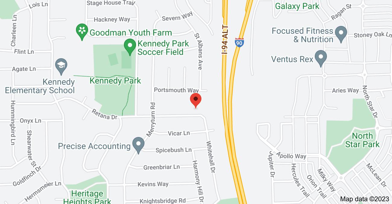 Map of 5410 Retana Dr, Madison, WI 53714