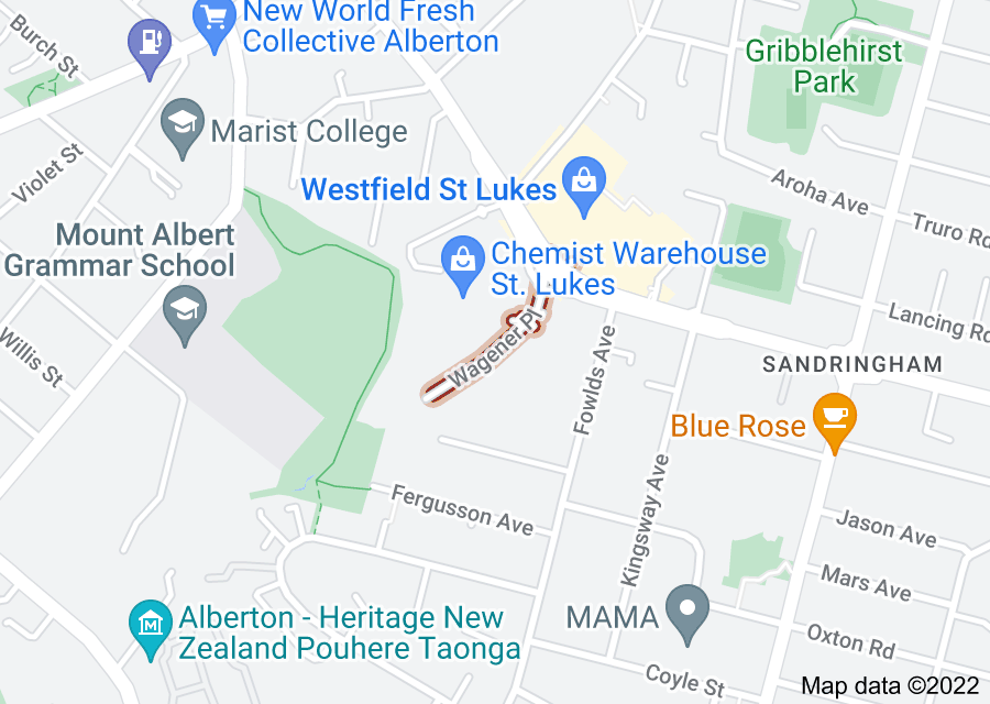 Location of Wagener Place