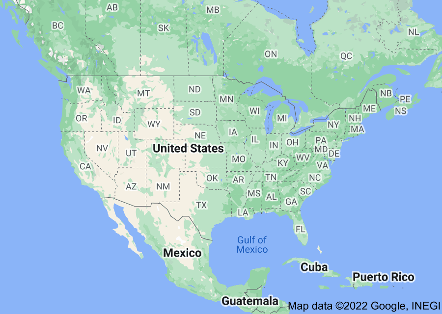Location of United States