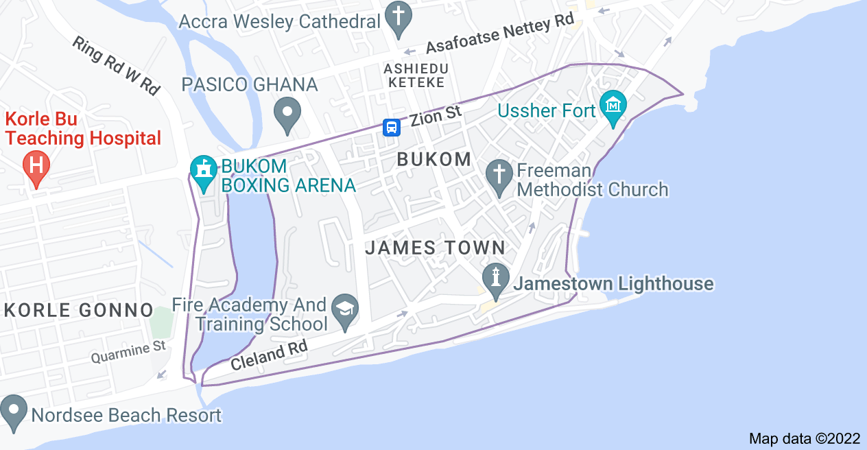 Map of James Town, Accra