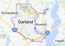 Map of Garland, Texas