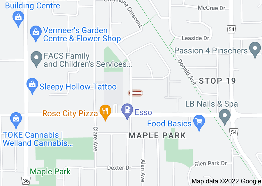 Location of Surrey Place